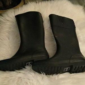Tommy Hilfiger black rain boots